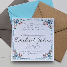Personalised Summer Wedding Invitation Set  by Lucy says I do
