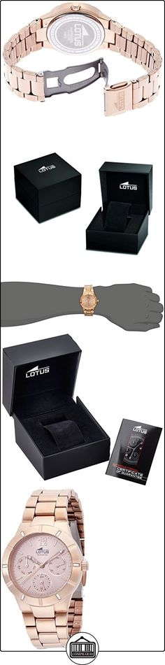 Lotus 15915/2 - Reloj de pulsera Mujer, Acero inoxidable, color Oro Rosa  ✿ Relojes para mujer - (Gama media/alta) ✿