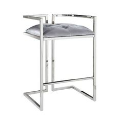 Shop Home Gear Arthur Counter Stool at Lowe's Canada. Find our selection of bar stools at the lowest price guaranteed with price match. Modern Counter Stools, Cool Bar Stools, Swivel Bar Stools, Bar Chairs, Lounge Chairs, Velvet Stool, Stool Height, Home Furniture Online, Farmhouse Dining Chairs