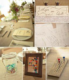 DIY vintage wedding tablescapes  http://www.JoPhotoOnline.com/Blog