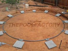 As per the manufacturer's instructions, a patio block should be placed under each upright when installing an #aboveground pool. #thepoolfactory