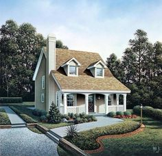 Cabin , Cape Cod , Cottage , Country House Plan 86973 with 3 Beds, 3 Baths Elevation House Plans And More, Family House Plans, Small House Plans, House Floor Plans, Cape Cod Cottage, Cottage House Plans, Cottage Homes, Hill Country Homes, Country Style House Plans