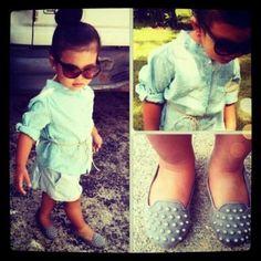 Baby hipster girl clothes idea! <3 <3!!
