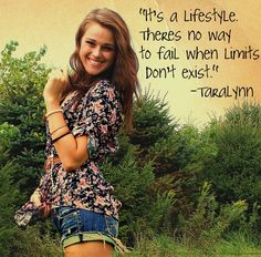 Inspirational quote from Taralynn Mcnitt :) She has an awesome story from sad, bullied and unhealthy to fit, happy and fabulous, and shares lots of exercise and healthy meal plans.