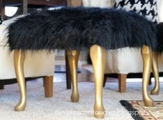 Not necessarily like this, but I could redo that foot stool rather similar