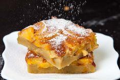 Prajitura cu piersici Creme Brulee, Lasagna, French Toast, Breakfast, Ethnic Recipes, Desserts, Food, Tech, Spring