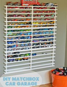 we have found that many Autistic children will empty any storage out as they often think that any item not visible may no longer be there. This is a car/train storage made from a wooden shoe rack as shown in next photo was found on facebook, thinking of adapting this idea for a colourful nail polish storage in the teen rooms too (if I ever get the time and energy)
