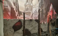 Escenografía para La Barricada carnavales de Málaga Ceilings, Painting, Art, Modern Interior Decorating, Modern Interiors, Modern Minimalist, Staging, Carnivals, Honey