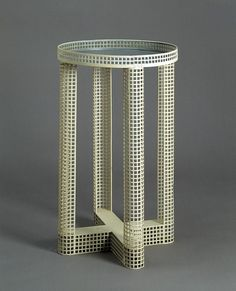 Josef Hoffman punched steel table 1910 #table d'appoint