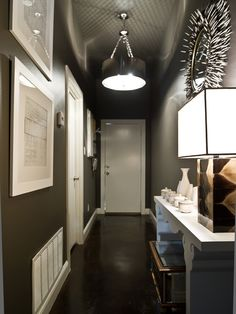 Dramatic entry into a condo.  Amazing first impression.  I would want to see more!