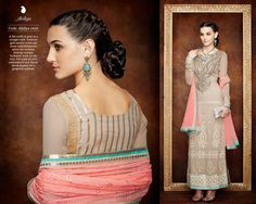 Serene Full Sleeve Ceremonial Suit with Refined Resham and Thread Embroidery