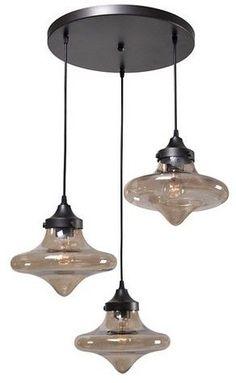 Kenroy Home Rain Drop 3 Light Pendant Ceiling Light