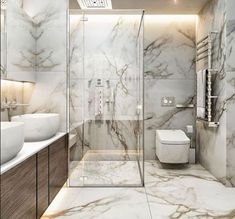Bathroom inspiration, products and design! - Bathroom inspiration, products and design! Royal Bathroom, Modern Bathroom, Bathroom Marble, Master Bathroom, Bathroom Pink, Stone Bathroom, Modern Shower, Bathroom Tubs, Bathroom Canvas