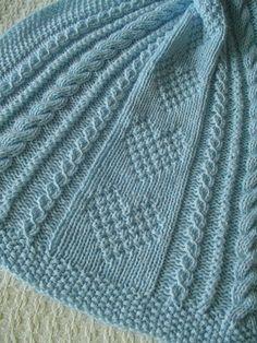 Baby Blanket 8 blue Blue Baby Blanket Handknit Baby by Ednascloset