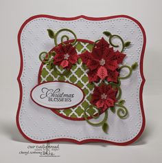 ODBDSLC219 Christmas with ODBD (Week 2)  Stamps - Our Daily Bread Designs Cardinal Ornament, ODBD Custom Peaceful Poinsettia Dies, ODBD Custom Fancy Foliage Dies