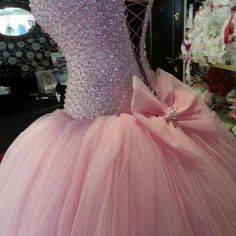 dress prom dress pink dress ball gown princess dress prom light pink pink long prom dresses glitter rose, blush, pink, light pink, baby pink, miu miu, bikini, beachwear, swimwear bows sparkles poofy pink, bow, prom, lace up sparkly bowtie pink sparkly dress prom dress light pink