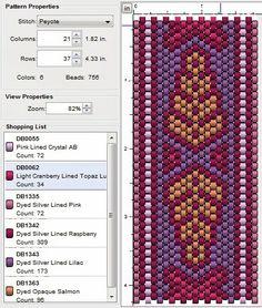 Beading: Peyote Stitch Pattern 22