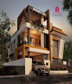Best Architecture Idea Designs That Will Inspire You Bungalow House Design, House Front Design, Small House Design, Modern House Design, Amazing Architecture, Modern Architecture, House Elevation, Villa Design, Exterior Design