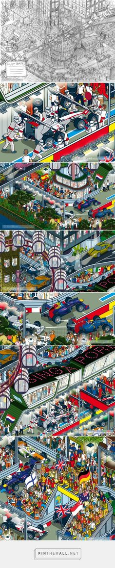 Rod Hunt Illustration Studio • Get set for the Singapore Grand Prix this weekend!... - created via http://pinthemall.net