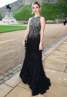 lily-james-party-dress