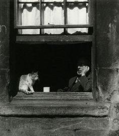 luzfosca: Bill Brandt The Gorbals, 1948 From The Photography of Bill Brandt Thanks to liquidnight Black White Photos, Black And White Photography, Bill Brandt Photography, High Contrast Images, Goldscheider, Photo Chat, Famous Photographers, Vintage Cat, Famous Artists