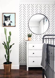 Black Delicate Herringbone Wallpaper