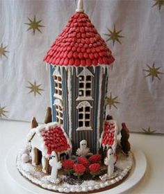 Too Tall circular tower gingerbread house custom model call 24/7 866-396-8429- http://www.cakes3.com/gingerbread2.htm delivery any cake in one hour - delivery 24/7 - open 24/7