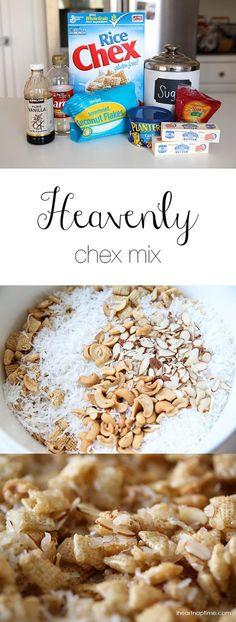 Heavenly chex mix recipe -SO good! | I Heart Nap Time - Easy recipes, DIY crafts, Homemaking