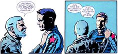 From Captain America and Bucky: The Life Story of Bucky Barnes. He's right on the money with Natasha ;)  Women are not objects!