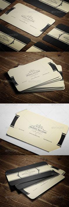 Klassieke visitekaartjes.
