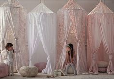 Cotton Voile Play Canopy from Restoration Hardware Baby & Child Girl Nursery, Girls Bedroom, Bedroom Ideas, Girls Canopy Beds, Bedroom Decor, Canopy Bedroom, Bed Ideas, Restoration Hardware Baby, Little Girl Rooms