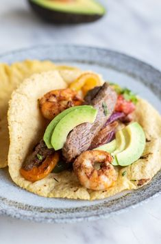 "We've got the perfect answer for when you family asks, ""What's for #dinner tonight?"" These Beef  Shrimp #Fajitas! This recipe is full of colorful veggies and is made in under 20 minutes using our Superheated Steam Countertop Oven. Click here for the full recipe! #SimplyBetterLiving #DinnerRecipe"