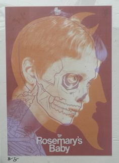 Rosemary's baby vellum Screenprint by Brian Ewing | Trampt Library