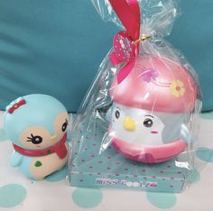 Mr Coolzy the penguin is so cute and rare! Will never be restocked once sold out Mr Coolzy is the big penguin on the right Jumbo Squishies, Cute Squishies, Hedgehog Cake, Best Acrylic Nails, Sanrio Hello Kitty, Wooden Hearts, Penguins, Kawaii Stuff, Packaging