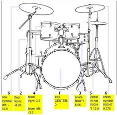standard drum panning in audio mixing Music Recording Studio, Music Studio Room, Recording Booth, Drum Lessons For Kids, Music Lessons, Drum Instrument, Violin, Music Instruments, Audio Mastering