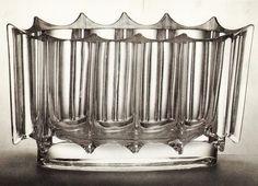 Czech glass bowl from Iceberg collection by Rudolf Jurnikl for Union # Art Deco Era, Czech Glass, 1970s, Glass Art, Ceramics, Inspiration, Collection, Vintage, Design
