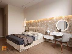 Фото интерьер спальни из проекта «Дизайн двухкомнатной квартиры 80 кв.м. в современном стиле, ЖК «Duderhof Club»»