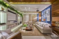Decor Salteado - Blog de Decoração   Construção   Arquitetura   Paisagismo: 20 Salas de tv com lareira – tendência do momento! Veja modelos e dicas!