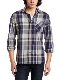 Volcom Men's Ex Factor Plaid Long Sleeve Shirt « Clothing Impulse