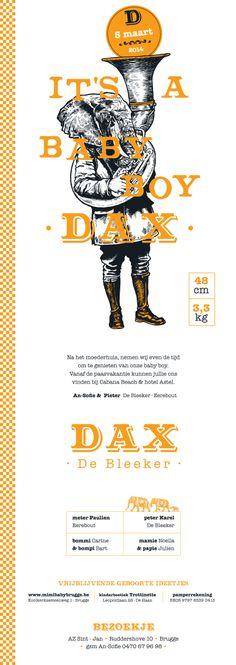 geboortekaart DAX