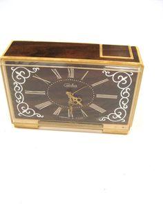 Vintage Soviet Alarm clock Desk Accessory by GrandpasTreasury,