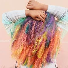 We learned about stunning *unicorn curls*. | 17 Hair Trends That Made 2016 Colorful AF