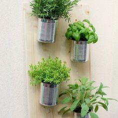 DIY boites de conserve pour la terrasse - Marie Claire Idées