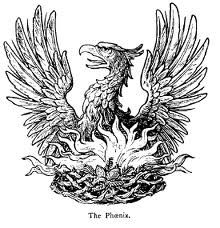 The Phoenix. According to Egyptian sources a sacred bird was occasionally seen at the temple in Heliopolis, the city of the sun god... The bird symbolized the rising sun, i.e. the day and eternal rebirth. According to an Egyptian myth Osiris transformed into a phoenix bird in Heliopolis. The bird was from time to time depicted sitting in a tree next to Osiris' coffin, thus symbolizing Osiris', the dead man's, resurrection after death.