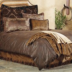 Gold Rush Western Bed Set - Love the Leather Pillows