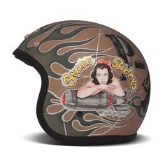 DMD Vintage Helmet - P40 | Open Face Motorcycle Helmets | FREE UK delivery - The Cafe Racer