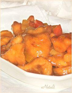 חזה עוף ברוטב חמוץ מתוק ואננס