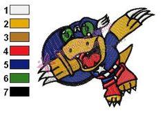 Halloween Agumon Digimon Embroidery Design