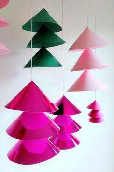 adornos navidad papel - DIY Navidad con niños