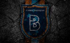 Indir duvar kağıdı Başakşehir, logo, sanat, Süper Lig, futbol, futbol kulübü, grunge, Başakşehir FC